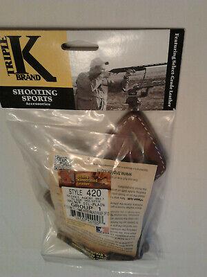 TRIPLE K 420 Secret Agent RH OWB Holster, Walnut Oil Plain