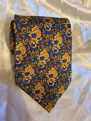 """VINTAGE Versace BAROQUE  Tie Necktie 100% Silk 57"""" FREE SHIPPING"""