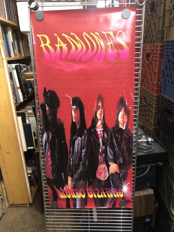 1992 Original Ramones Mondo Bizarro Record Store Promo Poster
