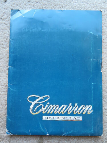Vintage 1982 Cimarron Cadillac Dealer Photos cards pack
