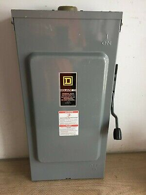 Square D D324nrb 200 Amp 240 Volt 3 Phase Fused Outdoor Disconnect..d-403