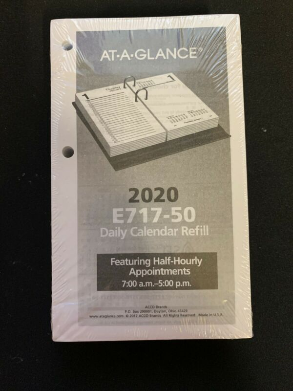AT-A-GLANCE Daily Loose-Leaf Desk Calendar Refill - Calendars
