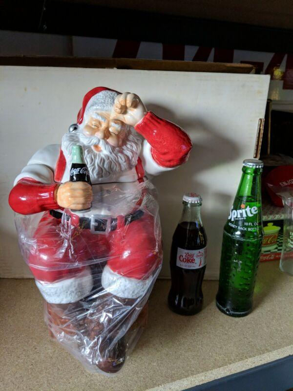 Coca Cola Brand Santa Claus Cookie Jar Earthenware