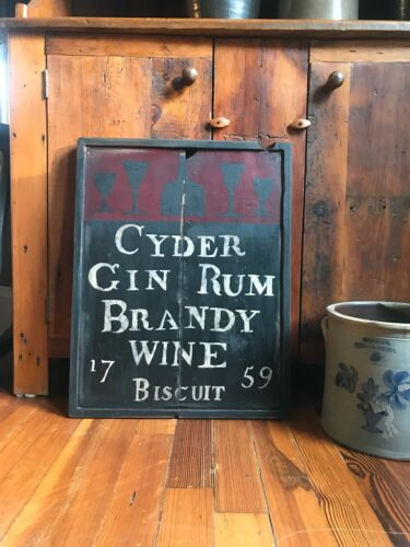 Primitive Colonial wood Tavern Sign