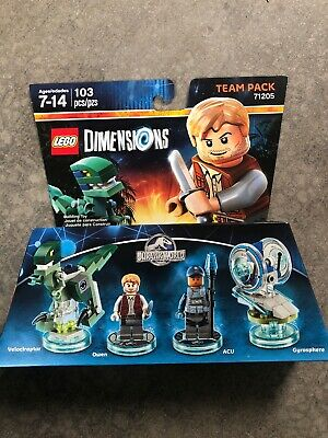 NIB Lego Dimensions Jurassic World 71205 Team Pack Owen and Velociraptor