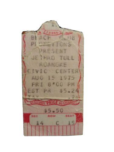JETHRO TULL 1975 Concert Ticket Stub VERY RARE - $9.99