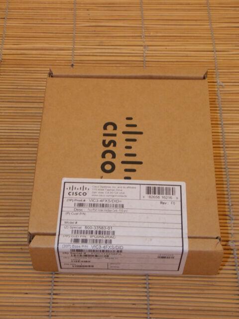 NEW Cisco VIC3-4FXS/DID 4-port FXS/DID voice/fax card NEU OVP UNGEÖFFNET