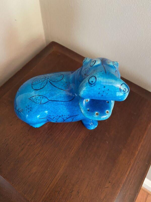 MMA Metropolitan Museum of Modern Art Rimini Blue William Hippo Ceramic Figurine