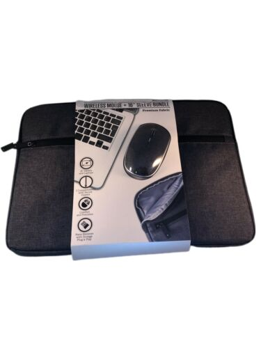 "Case Logic Wireless Mouse & 16"" Inch Tablet Sleeve Bundle Gr"