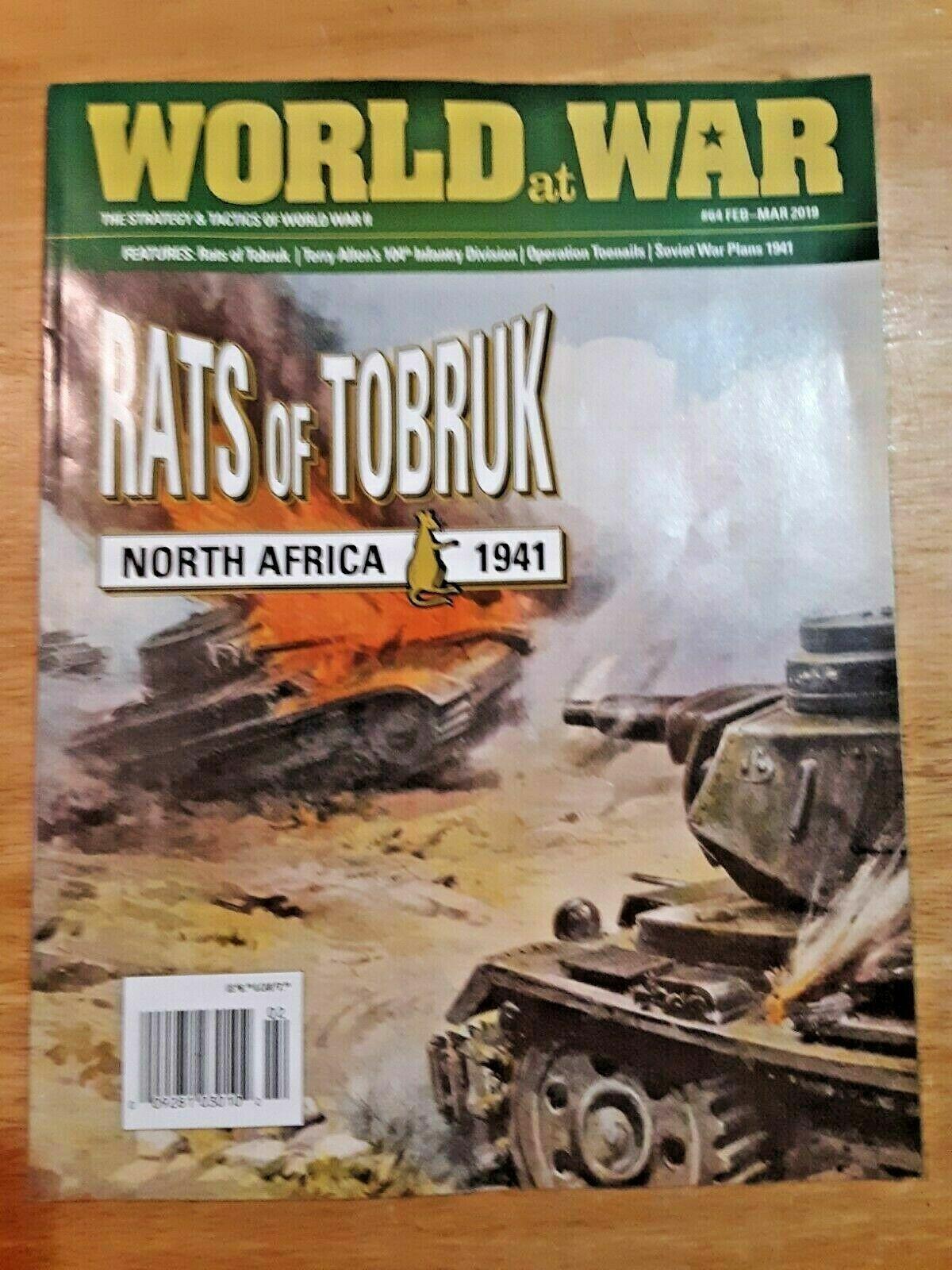 Issue 64 Rats of Tobruk World at War Wargame Magazine