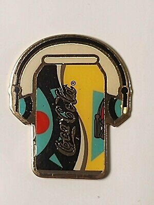 Coca-Cola Coke Can Headphones Lapel Pin