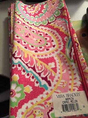 Vera Bradley One Capri Melon Dinner Fabric Napkin New NWT Pink multi paisley