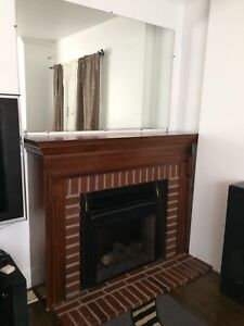 Very Nice Electric Fireplace and mirror 5 x 3 foot