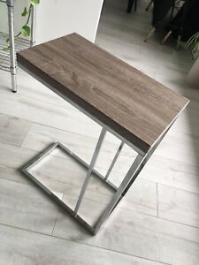 Side Table Grey Top (with Silver Legs)