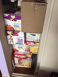 7 boxes and 2 bags full of baby girls clothing sizes 3m-2T