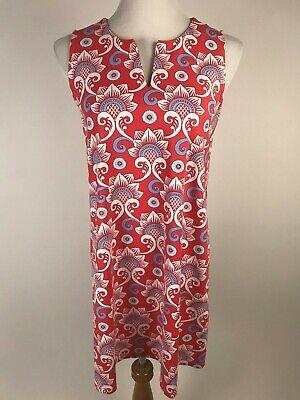 Dress Less Ladies (J.MCLAUGHLIN S'less Catalina Cloth Split Neck Dress ( Above Knee)- M, Coral)