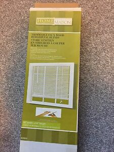 "2"" faux wood horizontal blinds - brand new"