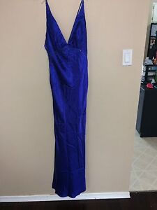 Royal blue formal dress size small