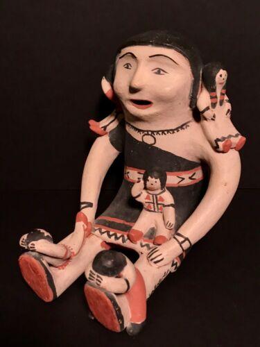 SEFERINA ORTIZ(1931-2007)FINE STORYTELLER POLYCHROME POTTERY DOLL,MINT CONDITION