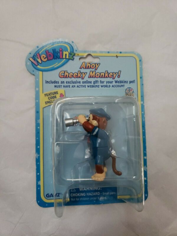 Webkinz Ahoy Cheeky Monkey Figurine Series 2 GANZ With Code