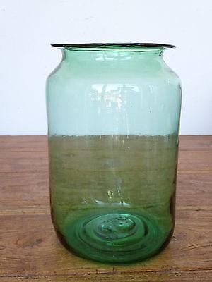 P4900 Bonbonglas ~ Vorratsglas ~ Bonboniere ~ hellgrünes Glas ~ 6 Liter