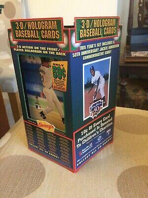 Vintage 1997 Denny Restaurant Baseball Card Table Display Advertisement Stand