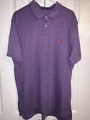 POLO Ralph Lauren Golf Polo Shirt Men's Size 2XL XXL Short Sleeve Purple Pony