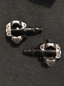 Shiman M520 black clipless pedals. Northbridge Willoughby Area Preview