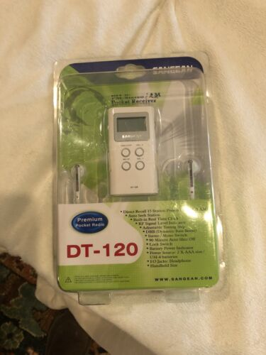 Sangean FM-Stereo/AM PLL Synthesized Pocket Radio DT-120
