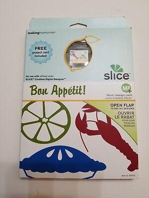 Making Memories Slice Card Cartridge Bon Appetit Die Cuts Scrapbooking Scrapbook