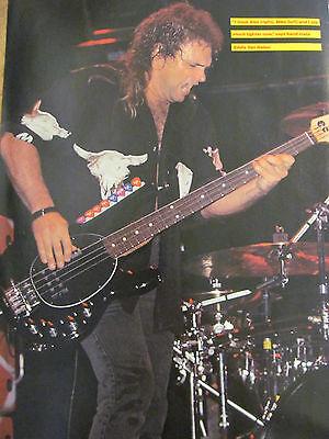 Michael Anthony, Van Halen, Eddie Van Halen, Double Full Page Vintage Pinup