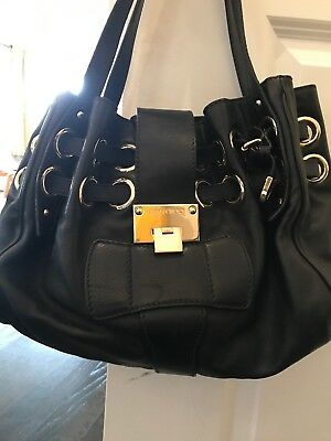 abb3ef167542 Jimmy Choo Ramona Black Leather Shoulder Bag