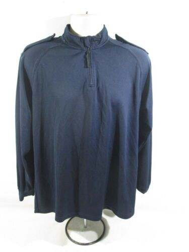 Ex Home Office Navy Blue Wicker Style Short Long Sleeved T-Shirt Security