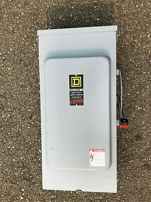 Square D H224nrb 200 Amp 240 Volt Single Phase Fused Outdoor Disconnect