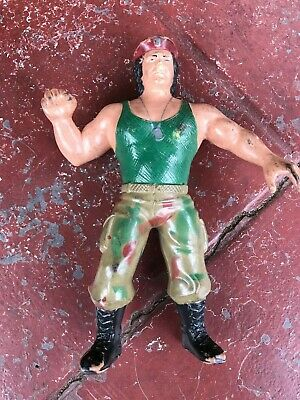 LJN WWF Corporal Kirchner Rubber Wrestling Figure Titan Sports VTG WWE Vintage!