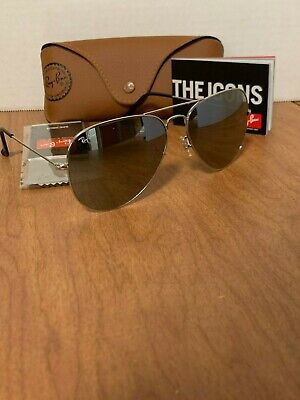 Ray-Ban Aviator Sunglasses RB3026 62mm Silver Frame Silver Mirror Lens (Ray Ban Aviator Silver Frame)