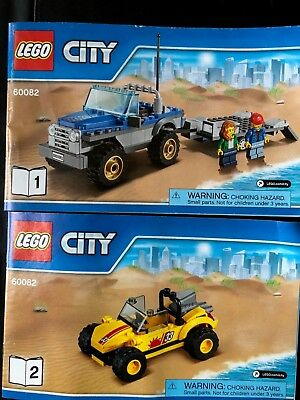 Lego 60082 Dune Buggy Trailer - Instructions ONLY - Books 1 & 2 for sale  West Chester