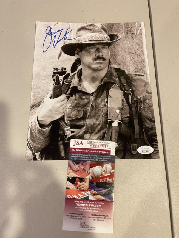 Autographed Jesse Ventura 8x10 Signed Photo The Predator Schwarzenegger Jsa Coa