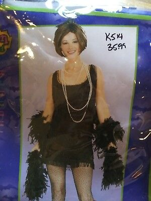 Chicago Halloween Costumes (Chicago Flapper Halloween Costume Adult Womens Role Play  Size)