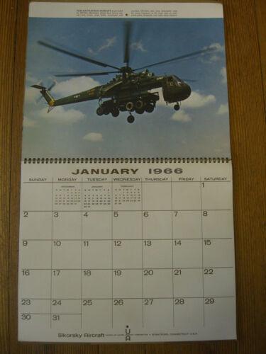 Original 1966 Sikorsky Aircraft Calendar, Stratford, CT U.S.A.(unhung)