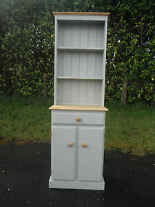 NEW SMALL SOLID PINE WELSH DRESSER NOT SHABBY CHIC FARROW AND BALL LAMPROOM GREY