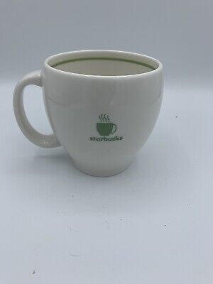 White And Green Starbucks Vintage 2003 Barista Steaming Coffee Mug