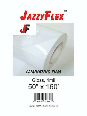 Jazzyflex - Cold Laminating Film 50 X 160 Roll 4mil Thck
