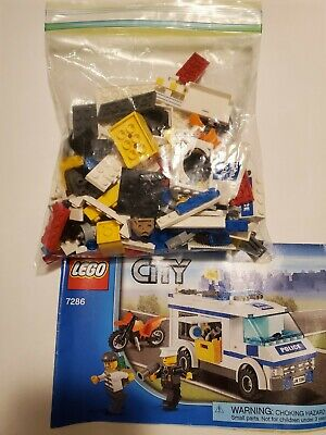 LEGO City Prisoner Transport Police 7286 100% Complete w/ Instructions Retired