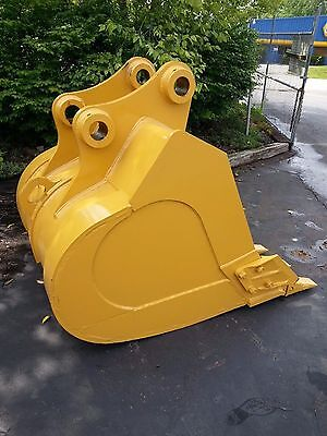 New 48 Caterpillar 320 Heavy Duty Excavator Bucket With Coupler Pins