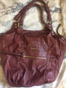 GUESS PURSE - purple leather