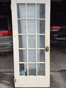Antique door with glass!