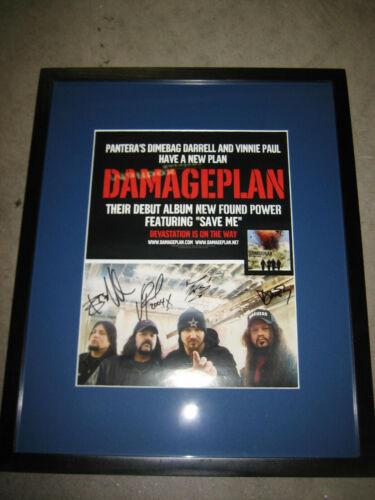 Autographed Dimebag Darrel Vinnie Paul Damage Plan Poster