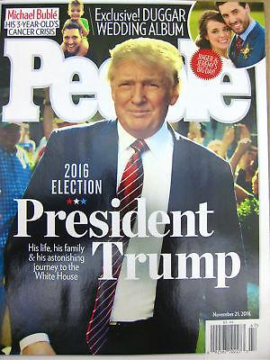 PEOPLE Magazine PRESIDENT DONALD J TRUMP Nov 2016 + Inauguration stub red ticket