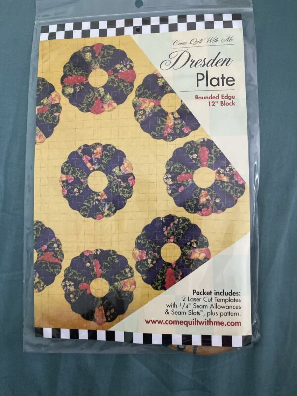 "Dresden Plate Templates/Pattern - Rounded Edge - 12"" Block"